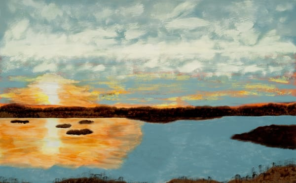 Keep Me Where The Light Is waterscape painting by Jana Kappeler.