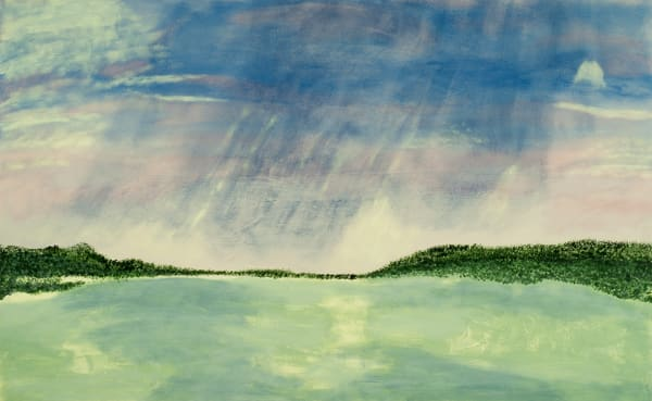 Cloud Song original abstract waterscape painting.
