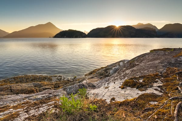 Dawn in Desolation Sound Photograph for Sale as Fine Art.