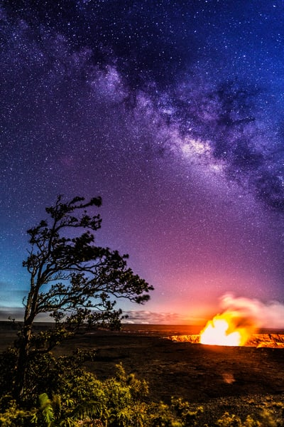 Hawaii Photography | Kilauea Galaxy by Leighton Lum