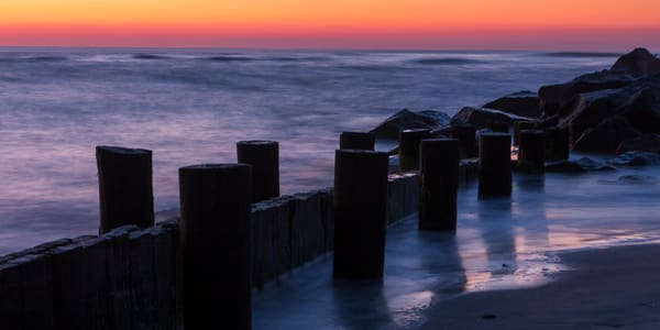 Beach Wall Art: Folly Beach at Dawn