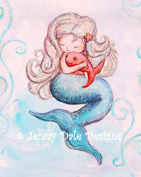 Mermaid And Squishy Fishy Art | Jenny Dale Designs