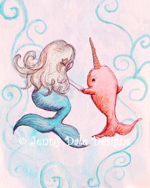 Mermaid and Narwhal