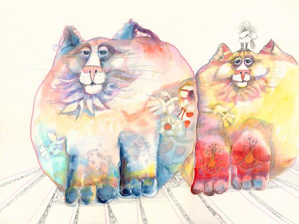 2 Flat Cats