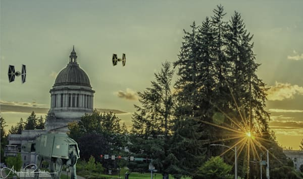 Washington State Capitol Tie Fighters