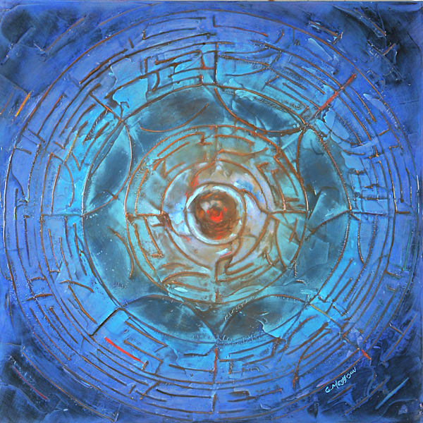 Wheel of Life | Abstract Acrylic Mixed Media | Gordon Meggison IV