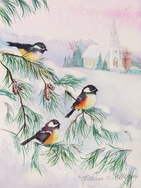 Chilly Chickadees by Madeline Tollefson