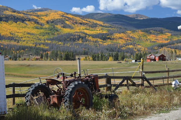 Old Tractor in Rocky Mountain National Park