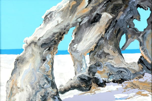 Aqua and Silver 1| Contemporary Landscapes | Gordon Meggison IV