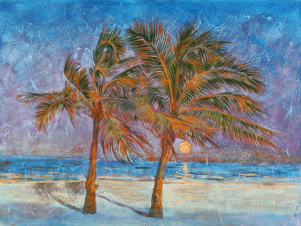 Two Palms by Twilight | Contemporary Landscapes | Gordon Meggison IV