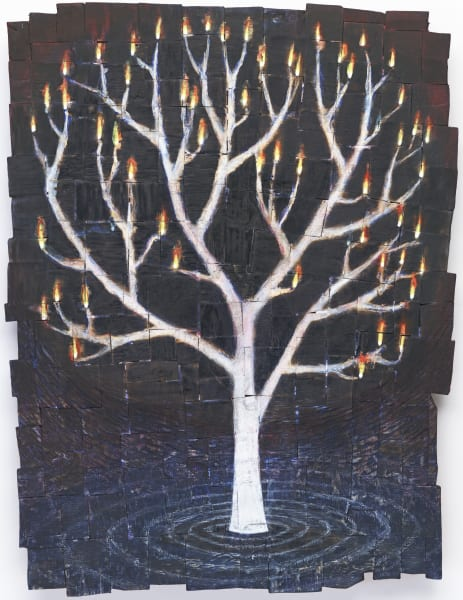 Water Tree Fire Art For Sale