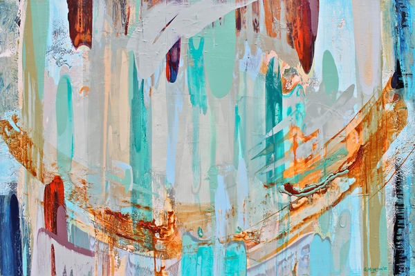 Color Stream | Abstract Acrylic Mixed Media | Gordon Meggison IV
