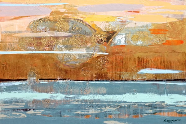 In an Orange Sky | Abstract Acrylic Mixed Media | Gordon Meggison IV