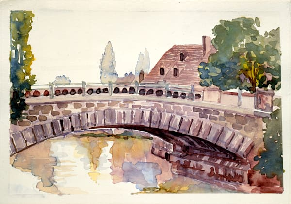 Pont d'Alsace, France | Watercolor Landscapes | Gordon Meggison IV