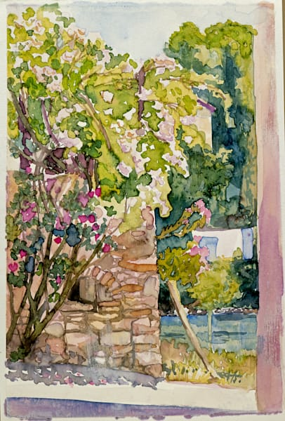 Carces, France | Watercolor Landscapes | Gordon Meggison IV