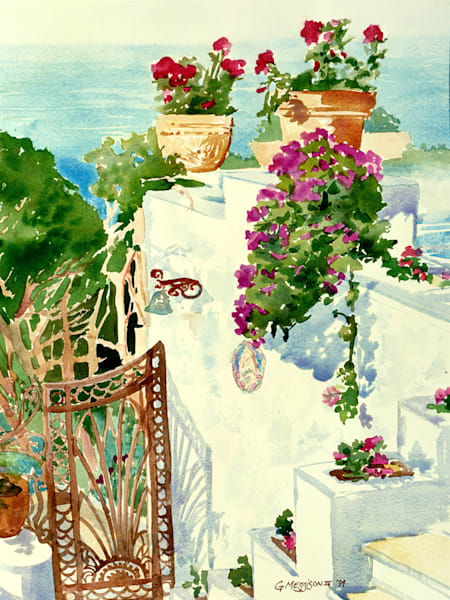 Capri Vista | Watercolor Landscapes | Gordon Meggison IV