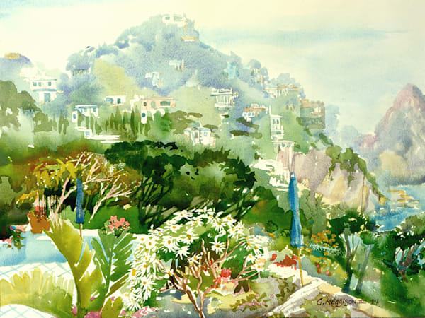 Isle of Capri | Watercolor Landscapes | Gordon Meggison IV