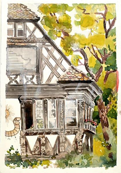 Strasbourg Orangerie, France   Watercolor Landscapes   Gordon Meggison IV