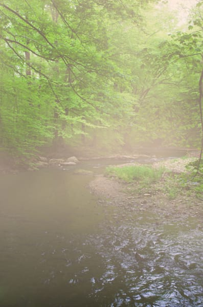 Early Morning Fog on the River Landscape Photo Wall Art by Landscape Photographer Melissa Fague