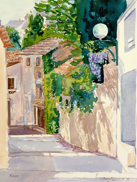Pornic, France | Watercolor Landscapes | Gordon Meggison IV