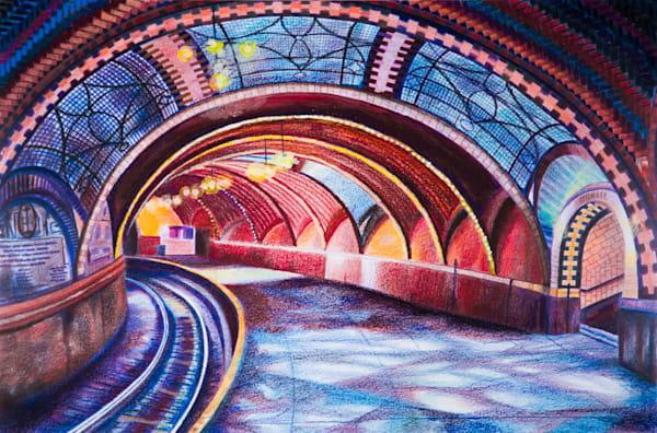 The Subway Art of NYC Transit City Hall Subway Painting