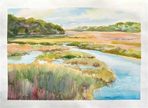 Big Talbot Marsh | Watercolor Landscapes | Gordon Meggison IV