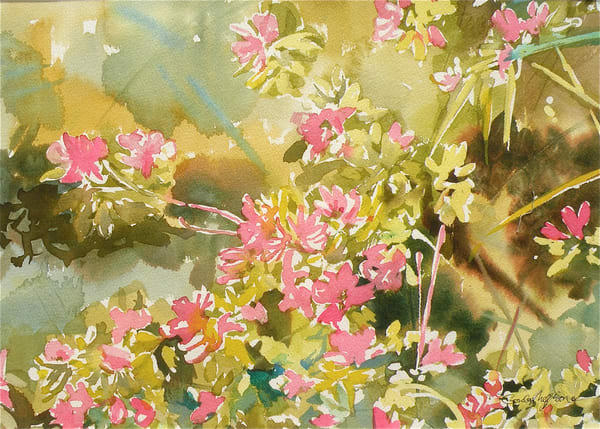 Azaleas in Spring 2 | Watercolor Landscapes | Gordon Meggison IV