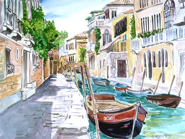 Rio San Marguerita, Venice | Watercolor Landscapes | Gordon Meggison IV