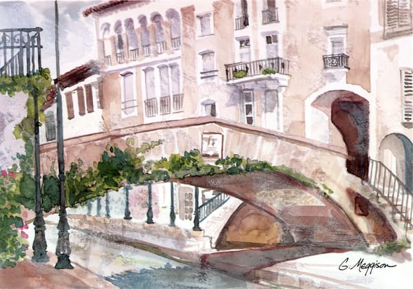 Port Grimaud, France | Watercolor Landscapes | Gordon Meggison IV