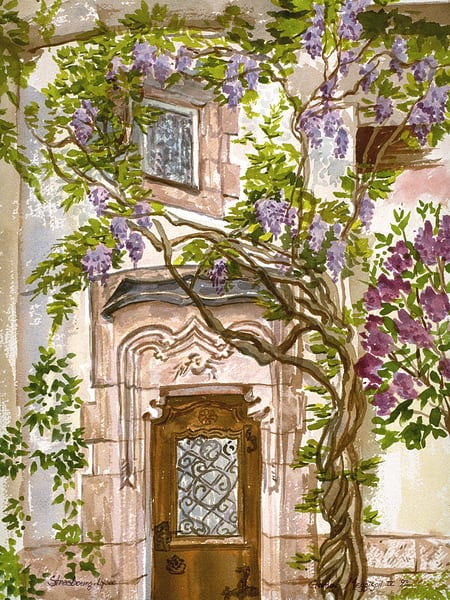 Strasbourg Door | Watercolor Landscapes | Gordon Meggison IV