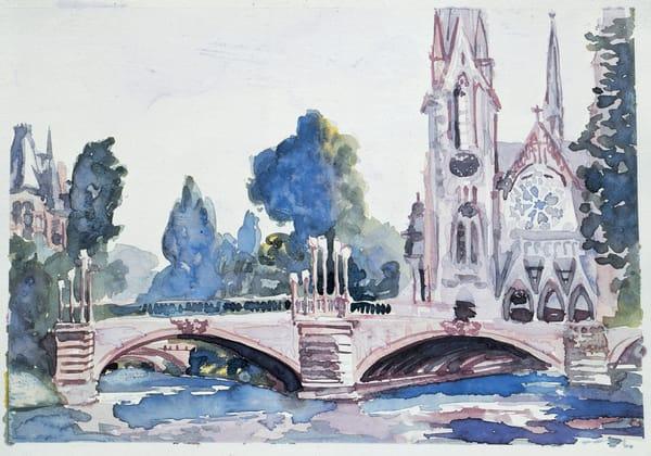 L'Eglise St. Paul   Watercolor Landscapes   Gordon Meggison IV