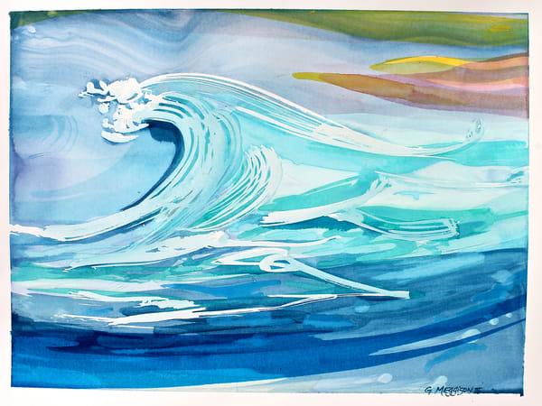 Great Wave   Abstract Watercolors   Gordon Meggison IV