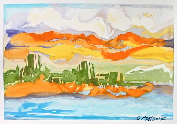 Intracoastal Color   Abstract Watercolors   Gordon Meggison IV