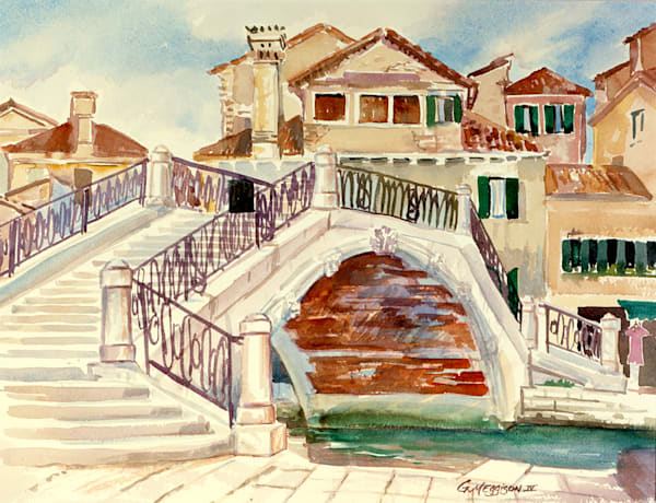 Venice in Summer | Watercolor Landscapes | Gordon Meggison IV