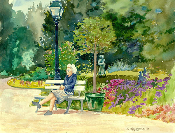 Orangerie in Spring | Watercolor Landscapes | Gordon Meggison IV