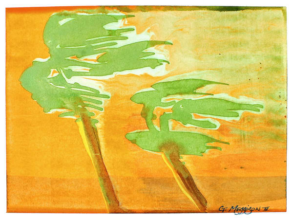 Open Palms | Abstract Watercolors | Gordon Meggison IV