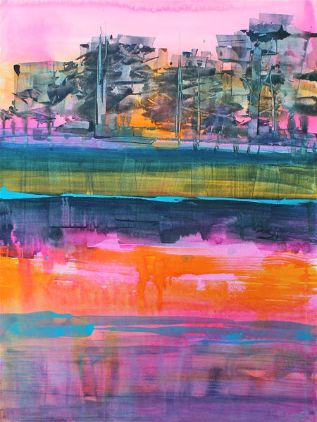 Pine Island | Abstract Watercolors | Gordon Meggison IV