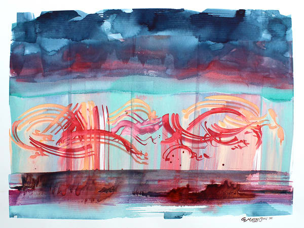 Seeing Music 2 | Abstract Watercolors | Gordon Meggison IV