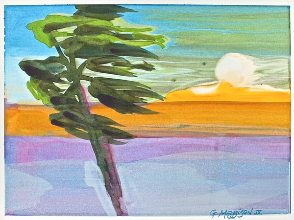 Tropical Moon | Abstract Watercolors | Gordon Meggison IV