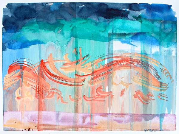 Seeing Music 1   Abstract Watercolors   Gordon Meggison IV