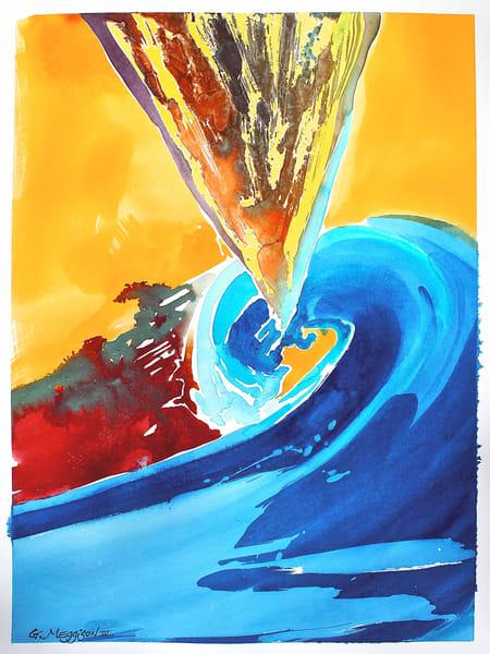 Spiral Color Field   Abstract Watercolors   Gordon Meggison IV