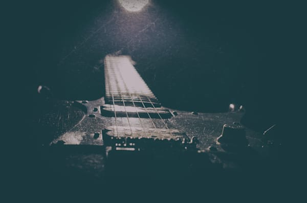 Grunge Guitar Still Life Photography by Landscape and Nature Photographer Melissa Fague
