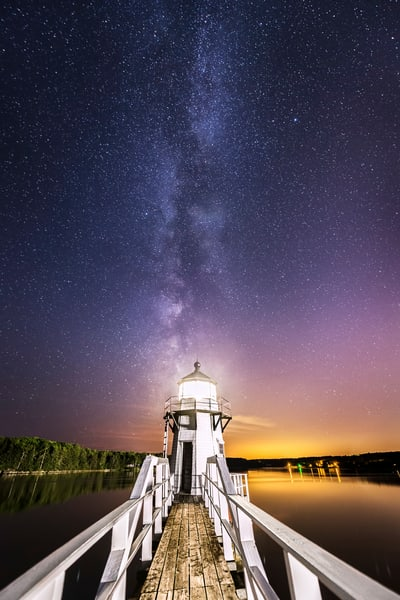 Doubling Point Light at Night