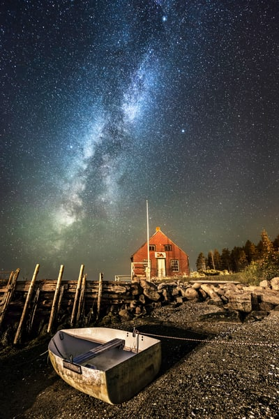 Quintessential Maine At Night Photography Art | Taylor Photography