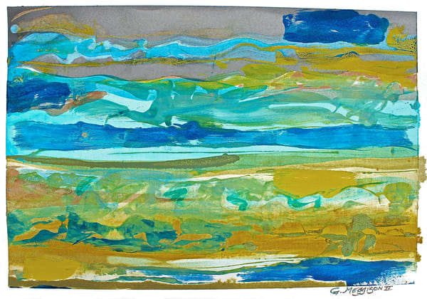 Behavior of Waves | Abstract Watercolors and Oil Monoprints | Gordon Meggison IV