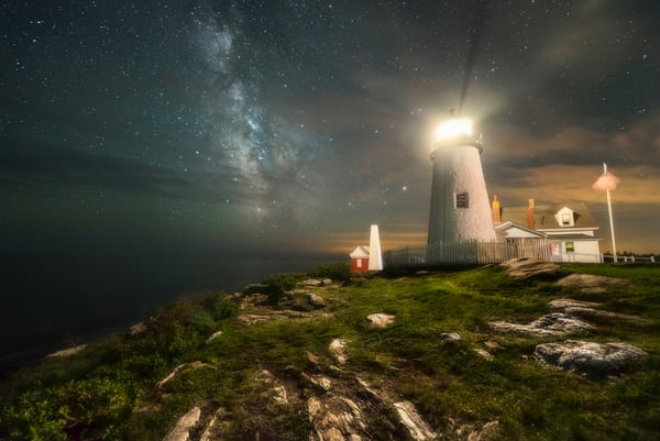 Milky Way At Pemaquid Light Photography Art | Taylor Photography