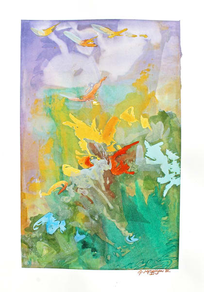 To Distant Lands | Abstract Watercolors | Gordon Meggison IV