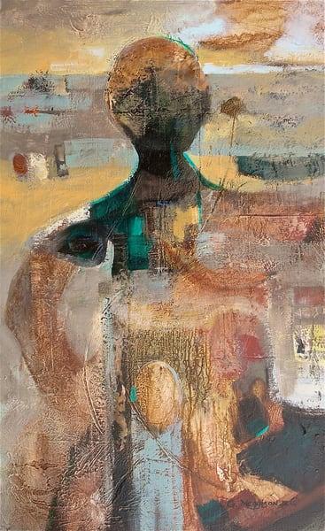 Solitary Dreamer | Abstract Acrylic Mixed Media | Gordon Meggison IV