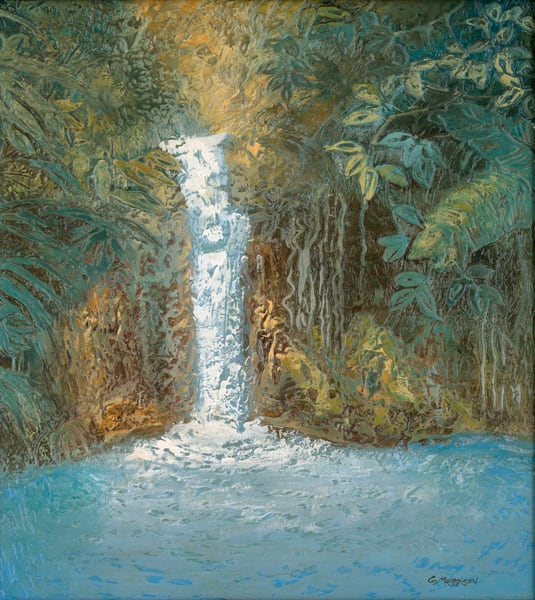 dominica-waterfall24-22x30-22-acryl-mixd-med