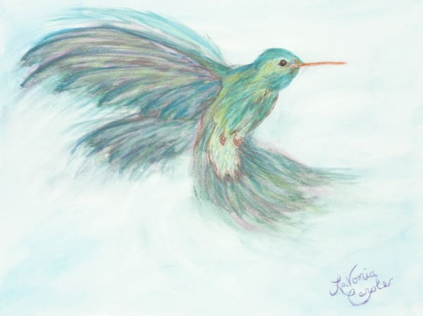 Beautiful Moving Hummingbird Fine Art Print